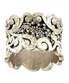Lois Hill swirled cuff ring is a must-have in your fashion jewelry collection. This fantastic cuff ring is truly unique. Both granulated sterling silver spheres. I Love Jewelry, Jewelry Box, Jewelry Rings, Silver Jewelry, Jewelry Accessories, Jewelry Design, Silver Rings, Jewelry Making, Silver Cuff
