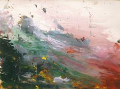 Cy Twombly - Hero and Leandro, 1981-1984, oil, crayon, graphite on canvas