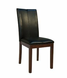 A-America PRSES221K Parsons Curved Back Parsons Chair (Set of 2) Upholstery: Black by A-America. $118.00. A-America PRSES221K Features: -Parsons collection. -Upholstered vinyl. -Leg finish: Espresso. -Standard dining height. -Manufacture provides one year warranty. Upholstery: Black