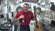 Canadian Astronaut Chris Hadfield Plays Guitar and Answers Question in S...