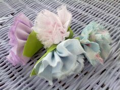 Fabric flower, crafting with kids