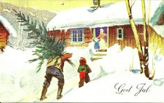 Julekort Gerhard Gjerding utg Mittet brukt 1934