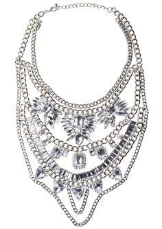 Collar Llamativo Cristales Claros Marcados 28,90€ #happinessbtq