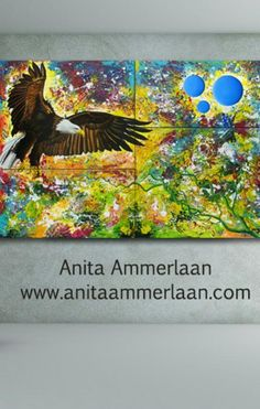 EAGLE by dutch artist Anita Ammerlaan. 130x200x4cm, acrylic and oilpaint. More info about professional dutch artist Anita Ammerlaan on www.anitaammerlaan.com