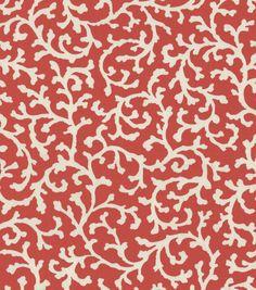 Home Decor Print Fabric-Waverly Coral Cascade Petal