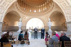 San Francisco City Hall 4th Floor Balcony Wedding: