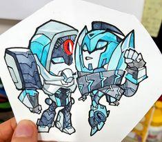 robots everywhere — My otp doodles Transformers Optimus Prime, Copics, Illustration Art, Illustrations, Robots, Pokemon Moon, Doodles, Hero, Animation