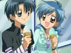Hanon and Nagisa with ice cream Anime Chibi, Manga Anime, Character Bio, Anime Mermaid, Mermaid Melody, Merfolk, Best Couple, Magical Girl, Pitch