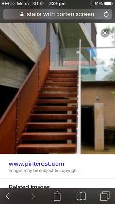 Corten stairs
