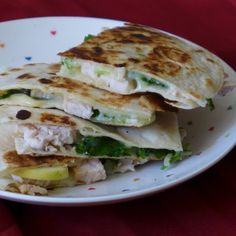 Apple, Baby Kale, Turkey Quesadilla