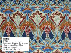 Historic Style - Ianthe Art Nouveau Fabric