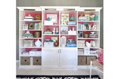 These 23 IKEA BILLY bookcase hacks share how you can transform your home with customized storage that fits your space, style, and budget.: BILLY and BESTA Hack