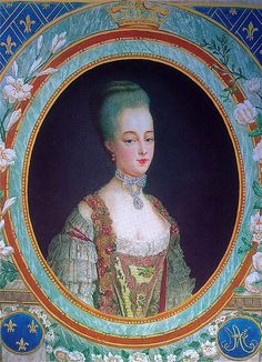 Portrait de la dauphine Marie Antoinette, d'après le peintre Drouais, 1772