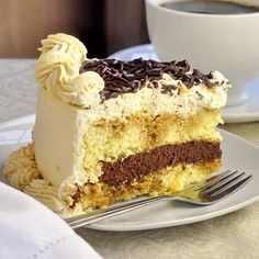 Chocolate Filled Kahlua Tiramisu Cake - From Best Top Ten Rock Recipes.