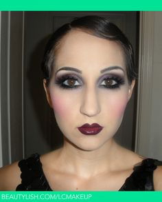 1920s makeup | Lauren C.'s (LCmakeup) Photo | Beautylish  I love so many things about the twenties but this is NOT one of them. No one wonder my late grandfather hated makeup! GHASTLY!!!