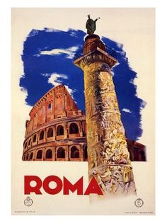 roma-rome-italian-travel-poster-1935 by nostalgicphotosandprints, via Flickr