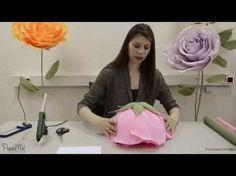 DIY: #Мастер класс- большие цветы из изолона( #фоамирана).How to Make GIANT Tissue Paper #1 - YouTube
