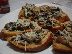 Bruschettas de cogumelos sensacionais