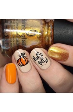 IT'S FALL Y'ALL! Get cozy cute fall nail art with our Autumn loving nail art plate! Also - half the plate is an all out celebration of Pumpkin Spice - YES, PLEASE! So get some delicious goodness on your nails this season! Holiday Nails, Christmas Nails, Hello Nails, Cute Nails For Fall, Fall Acrylic Nails, Thanksgiving Nails, Fall Nail Art Designs, Nail Art Diy, Nail Stamping