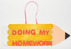 back of school craft images | Activity Village show you how to make a cool sign to hang on your door ...