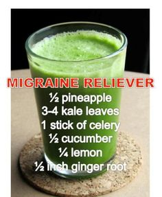 Headache Remedies Migraine Relieving Drink - Do you suffer Migraines? Don't despair, we've put together the best collection of Homemade Migraine Remedies and they really work! Check them out now. Healthy Juices, Healthy Smoothies, Healthy Drinks, Juice Smoothie, Smoothie Drinks, Lemon Smoothie, Ginger Smoothie, Smoothie Detox, Celery Smoothie