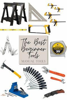 Tips for how to start using tools and a round-up of the best power tools, manual tools, and paint tools for beginner DIYers.