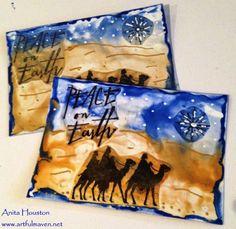 encaustic art christmas card designs - Google Search
