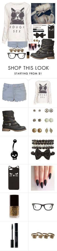 """""""I Got You And I Love You"""" by one-800-milk ❤ liked on Polyvore featuring BLK OPM, Dirty Laundry, Wet Seal, Charlotte Russe, Forever 21, Ray-Ban and Topshop"""