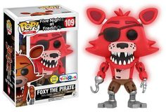 Funko releasing glow in the dark Foxy the Pirate (toy'r'us exclusive) from Five Nights at Freddy's