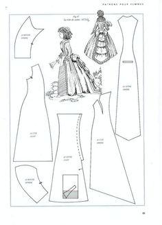 Foro de casas de muñecas y miniaturas :: Ver tema - Patrones de vestidos- 1870-1880 doll clothes patterns