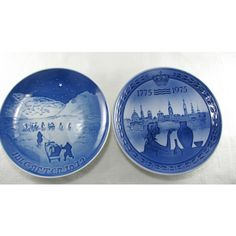 Danish Blue And White Plates, Bicentenary Jubilee, Gallery Wall... ($22) ❤ liked on Polyvore featuring home, home decor, blue white plates, blue and white plates and blue and white home decor