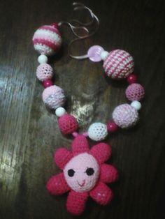 Collar de lactancia flor rosa