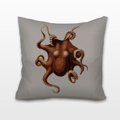 Octopus, Cushion, Pillow