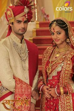 Swasan FS Made For Each Other Characters I know have to give an epilogue of made for each other. Helly Shah, Bengali Bride, Indian Bride And Groom, Indian Bridal Lehenga, Indian Wedding Outfits, Groom Outfit, Bollywood Celebrities, Indian Fashion, Star Actress
