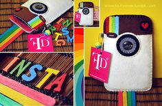 ♡ Instagram fever ♡    Stylish handmade felt case for Galaxy Note - Available Now !