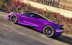 Download wallpapers McLaren 720S, hypercars, 2017 cars, purple 720S, supercars, McLaren