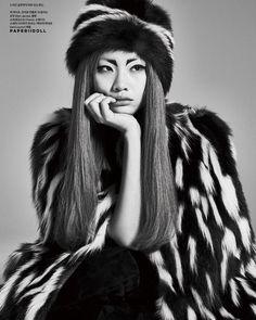 Jung Ho Yeon wearing Marc Jacobs Fall '15 for Harpers Bazaar Korea November 2015. Photo by Kim Hee June