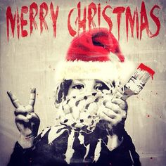 Joyeux Noël Street Art // Alessio B
