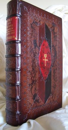 """hermagnumopus:    Hand tooled leather binding is a perfect complement to the contents, the classic occult text """"A True and Faithful Relation of What Passed For Many Years Between Some Spirits and Dr. John Dee""""."""