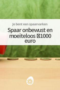 We weten allemaal dat sparen voor de toekomst belangrijk is. Het is alleen zo moeilijk om geld apart te zetten! Met deze methode spaar je 1.000 euro (of meer) in twee jaar, zonder dat je er ook maar IETS van merkt!