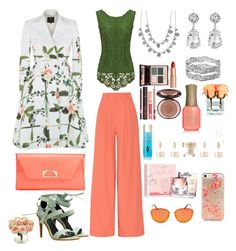 """""""Visit My Garden"""" by teresalcaine on Polyvore featuring Alice + Olivia, Ted Baker, Christian Louboutin, TIBI, Givenchy, Kenneth Jay Lane, Avenue, Charlotte Tilbury, Lancôme and Nearly Natural"""