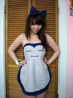 Spookbook DIY Halloween entry - Snorlax dress (by Betty Felon) http://lookbook.nu/look/2612999-Spookbook-DIY-Halloween-entry-Snorlax-dress