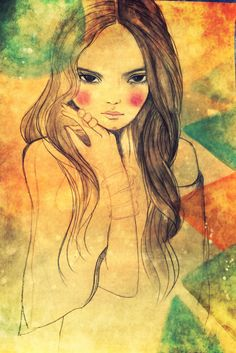 Girl with bangles art print by claudiatremblay on Etsy