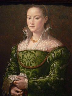Bartolomeo Veneto, Portrait of a Lady in a Green Dress