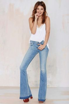 A Gold E Madison Distressed Flare Jeans - Bottoms