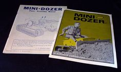 Mini-Dozer Equipment Book & Plans -- Assembly Manual C. F.  Struck Corp. 1968 VINTAGE Collectible