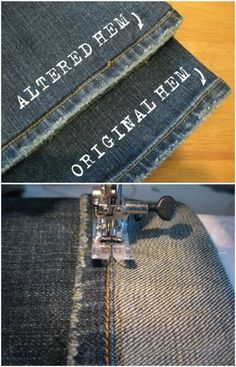 Hem Distressed Jeans