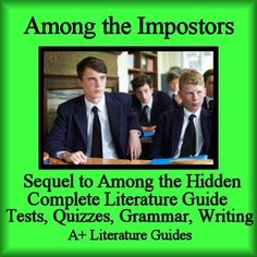 Among the Imposters Literature Guide Novel Unit Study Teaching Unit Common Core by Margaret Peterson Haddix.This is a 107 page Complete Literature Guide and Assessment Pack for Among the Impostors. This is the sequel to Among the Hidden. Put away boring test prep, and teach the five Common Core areas of Language Arts - Reading Informational, Reading Literature, Writing, Speaking and Listening, and Language - using this Literature Guide and a book that students will love!