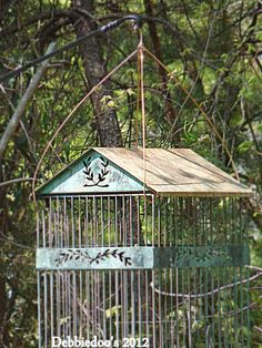 Use for bird house in garden and hook door open.Put something in for nesting.
