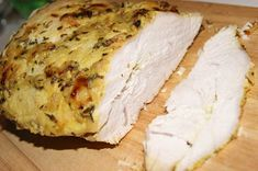 Pieczona pierś indycza Poultry, Camembert Cheese, Food And Drink, Dairy, Bread, Cooking, Fit, Products, Baking Center